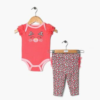 Harga Pure Girls Jaguar Onesie and Leggings Set (Pink)