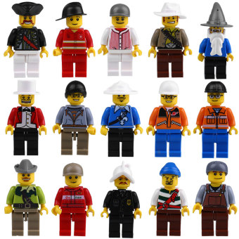 Harga Grab Bag Lot of 20Pcs Minifigures toys Figures Men People Minifigs Best Quality