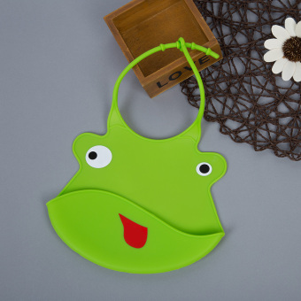 Durable Babies Silicone Bib Soft Cartoon Shape (Green) - Intl Price Philippines