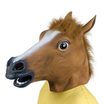 Horse Head Mask Animal Head Mask Cosplay Halloween Latex Party Toys Headwear - intl Price Philippines