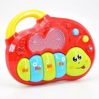 Animal Farm Music Keyboard and Dynamic Light Early Education Toys - intl Price Philippines