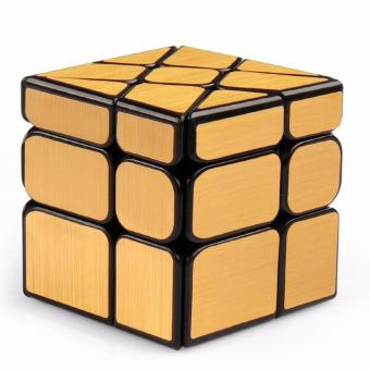Harga MoFang JiaoShi 3x3x3 Windmirror Windmill Rubik's Puzzle Magic Cube MF8812 - Gold