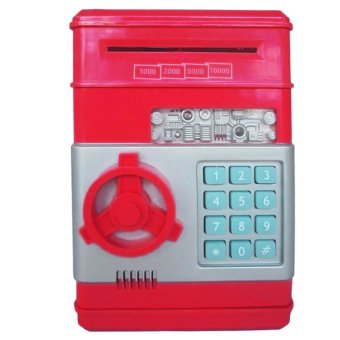 Harga Mini Electronic Money Vault Machine (Red)