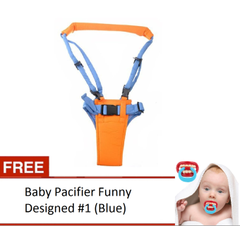 Moby Baby Moon Walker Safety Harness With Free Baby Pacifier Funny Designed #1 (Blue) Price Philippines