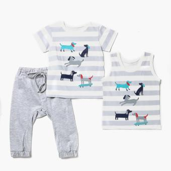 Nap Boys Dogs Pajama Set (Gray) Price Philippines