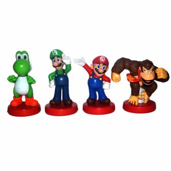 Harga Super Mario Mini Figure Loose 4pcs/Set PVC