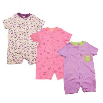 Tickle R9 Assorted Color/Design Babies 3 Pack Romper Price Philippines