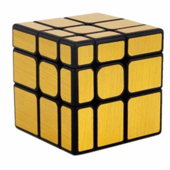 Harga MoFang JiaoShi MF8811 3x3x3 Speed Mirror S Cubing Classroom Rubik's Puzzle Magic Cube Gold