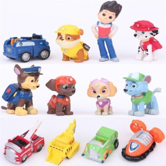 12 pcs Fashion Nickelodeon Paw Patrol Mini Figures Toy Playset Cake Toppers - intl Price Philippines