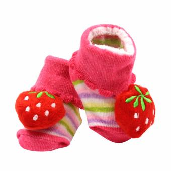 Baby Steps Strawberrie Baby Girl Socks (Pink) Price Philippines