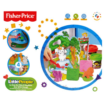 Harga Fisher Price Little People Play and Pretend Modeler Zoo Clay Toy Set FPP007