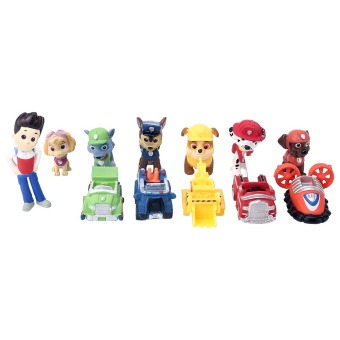 Movie Character 12pcs PAW PATROL Marshall Rocky Skye Figure Toys Kids 1 set Price Philippines