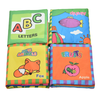1 Set Fabric Books Educational Cloth Book Preschool Training Cartoon Baby Toy Price Philippines