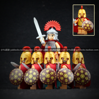 In the ancient knight domestic third party people toys assembled building blocks