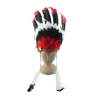 Indian Christmas performance party feather headdress