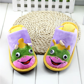 Indoor home Cotton linen boy's non-slip slippers