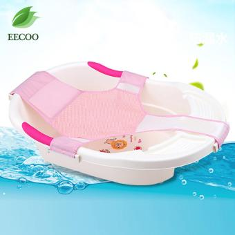 Infant Bathtub Net Shower Support Baby Toddle Bathing Seat Mat Pad Cardle- Pink - intl