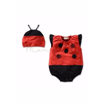 Infant Newborn Baby Girl Boy Cute Sleeveless Babysuit JumpsuitRomper Bodysuit for Baby Costume for Baby with Hat Laby Bug(12M-3YR) Price Philippines