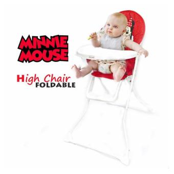 Infant to Toddler Foldable High Chair (Minnie mouse)
