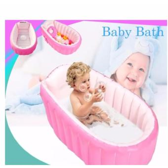 inflatable baby bath tub pink lazada ph. Black Bedroom Furniture Sets. Home Design Ideas