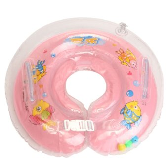 Inflatable Float Ring Baby Infant Swimming Neck Safety Aids Bath Swimming Beach Pink - Intl