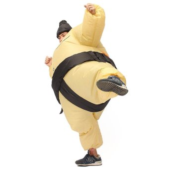Inflatable Sumo Wrestler Fancy Dress Costume Fat Suit Hen Stag Night Outfit - intl - 3