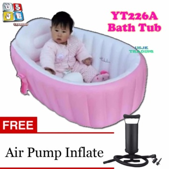 Inflatable YT-226A Bath Tub Intime Plastic Baby w/ FREE Air Pump(Pink)
