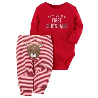 INS European and American children's Christmas romper onesie