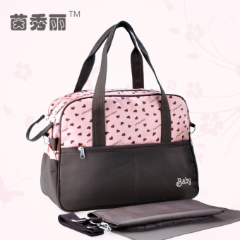 Insular printed multi-functional large capacity mommy bag