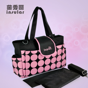 Insular retro multi-functional large capacity shoulder mother bag mommy bag