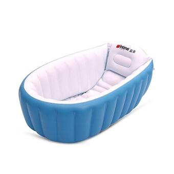 Intime Baby Infant Travel Inflatable Non Slip Bathing TubBathtub(without air pump) Blue