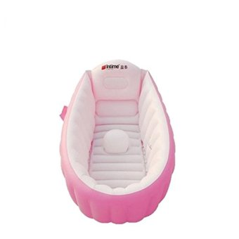 intime Baby Infant Travel Inflatable Non Slip Bathing TubBathtub(without air pump) pink