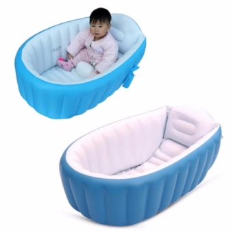 Intime Plastic Baby Inflatable YT-226A Bath Tub (Blue)