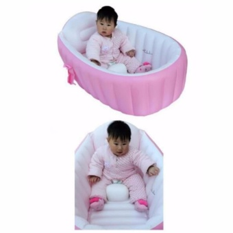 Intime Plastic Baby Inflatable YT-226A Bath Tub (Pink)