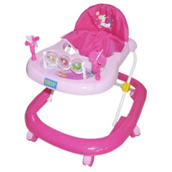 IRDY Baby Walker with Toys and Music (Pink or Light Green)