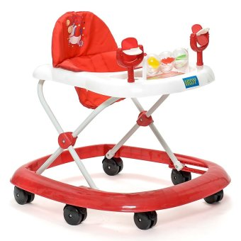 IRDY Multifunctional Baby with Musical Walker (Red)