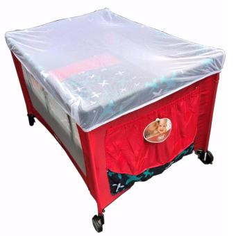 IRDY P508 Baby Crib Playpen w/ Mosquito Net (Red)