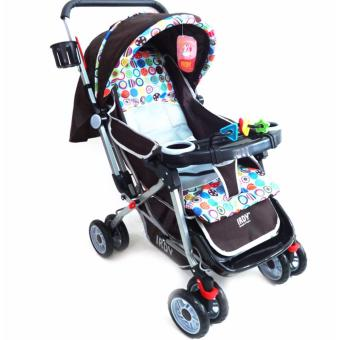 IRDY Stroller with Foodtray and Bottle Holder (Brown)