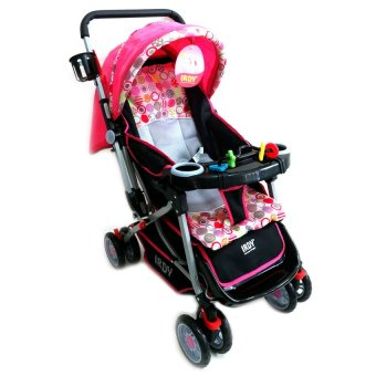 IRDY Stroller with Foodtray and Bottle Holder (Pink)