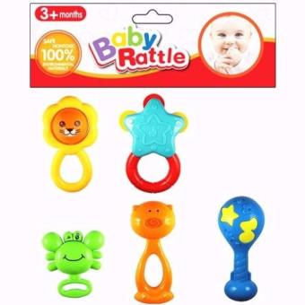 Japan and USA best selling Baby Starts Rattle 5pcs set Random style