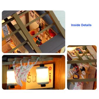 Japanese Sushi Bar DIY Doll House Wooden - Intl - 5