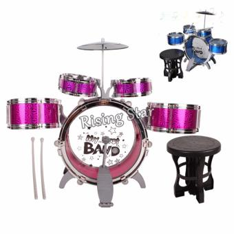 Jazz Drum Set With Chair Musical Toy Instrument for Kids NO. 4008E - 3