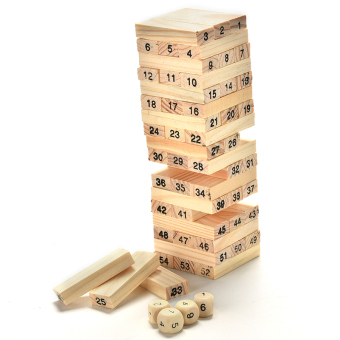 Jenga Game Educational Toy Building Blocks Kids Toy Tumbling Stacking