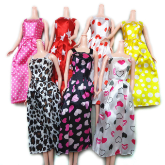 Jetting Buy 7Pcs Gorgeous Handmade Dress for Barbies Price Philippines
