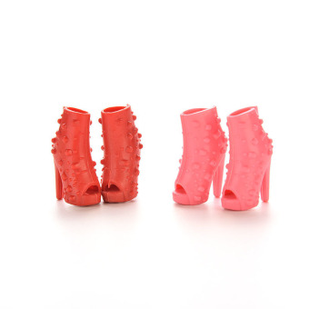 Jetting Buy Fish Head Shoes Mix Colors For Barbie 10Pairs - picture 2