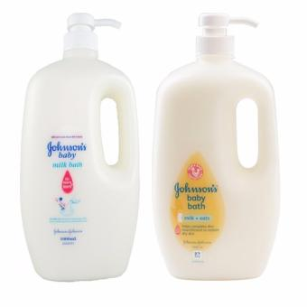 Johnson's Baby Milk Bath 1000ml white and Johnson's Baby Milk plusOats Bath 1000ml white and yellow (2 packs) Price Philippines