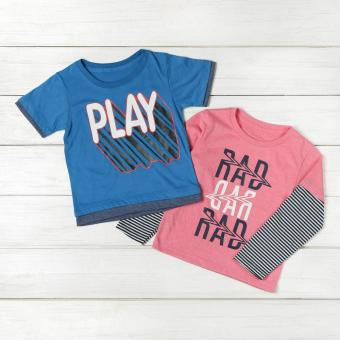 jusTees Baby Boys 2-piece Graphic Tee Set (4T)