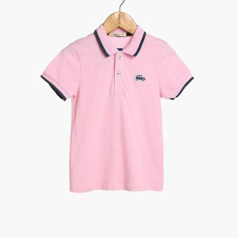 jusTees Baby Boys Car Pique Polo Shirt (Pink)