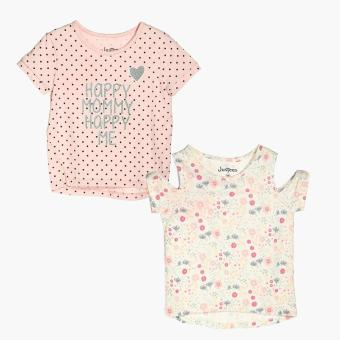 jusTees Girls 2-piece Happy Mommy Happy Me Top Set (3T) Price Philippines
