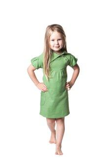 Kate Quinn Organics Short Sleeves Lounge Dress (Clover Green)